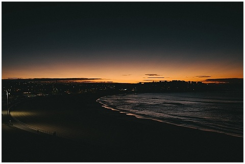 Sunrise on Bondi Beach in the winter